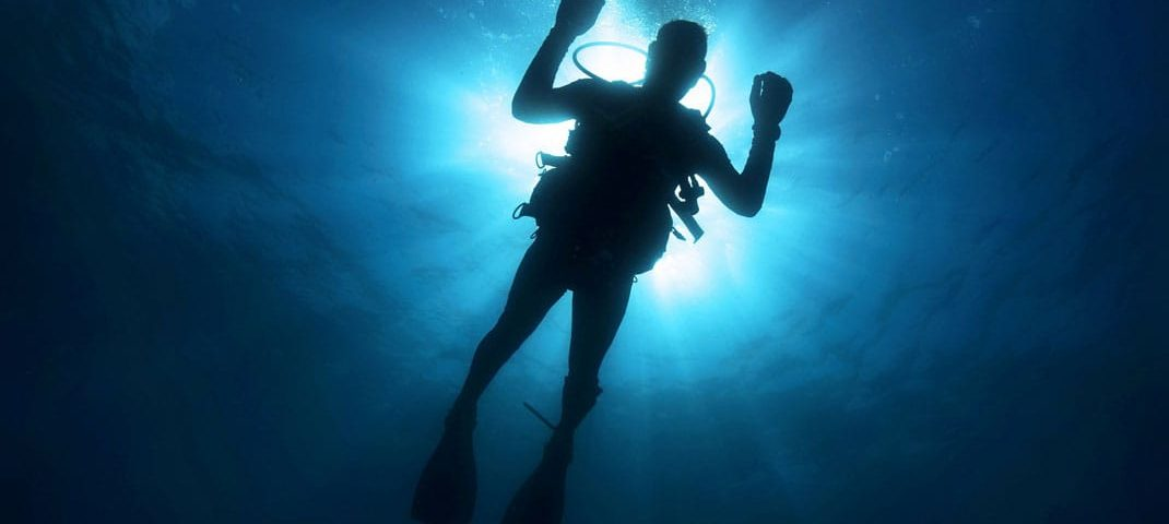 plongée en eau profonde.